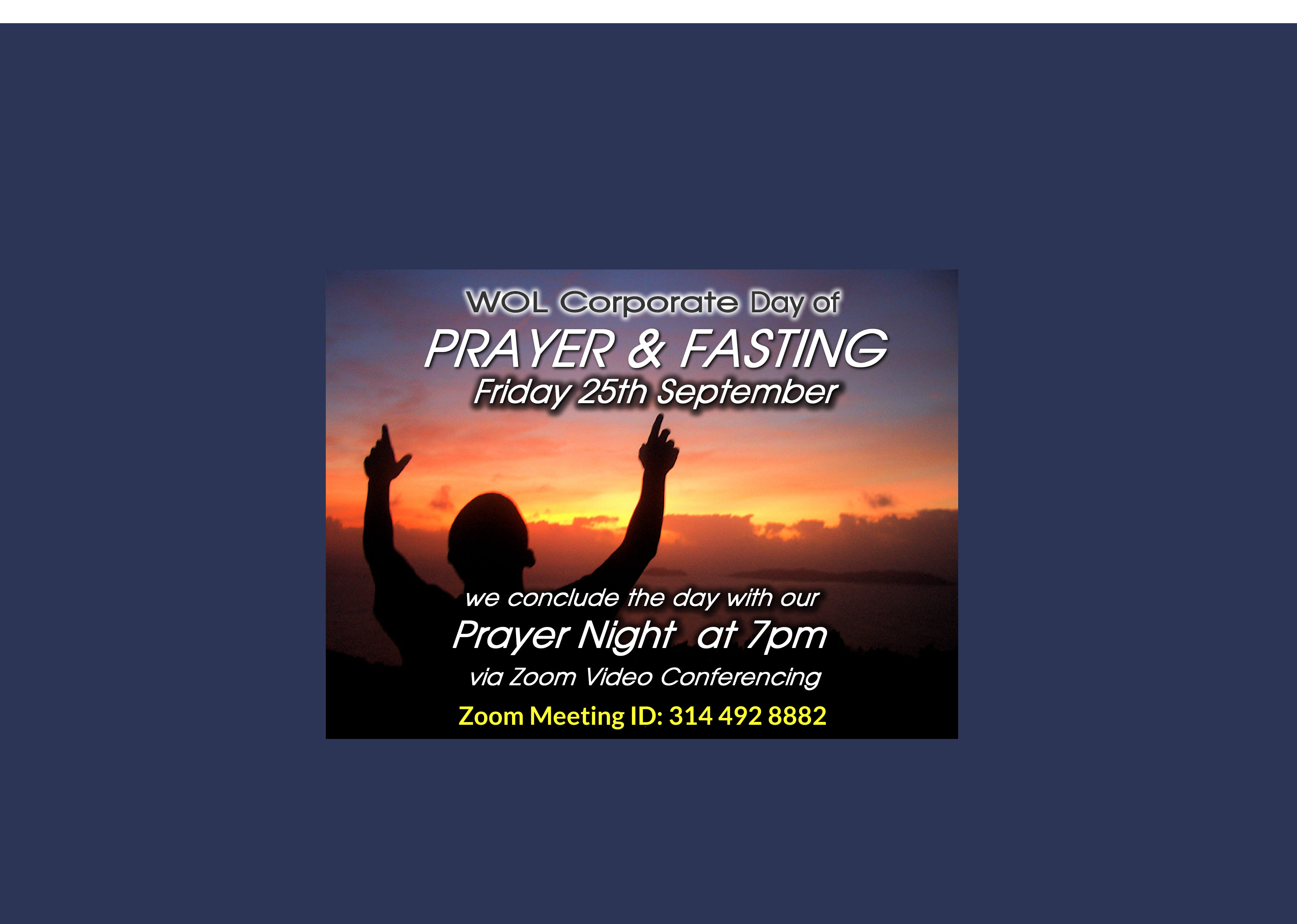 Corporate Day Of Prayer Fasting   Sep 2020   Web