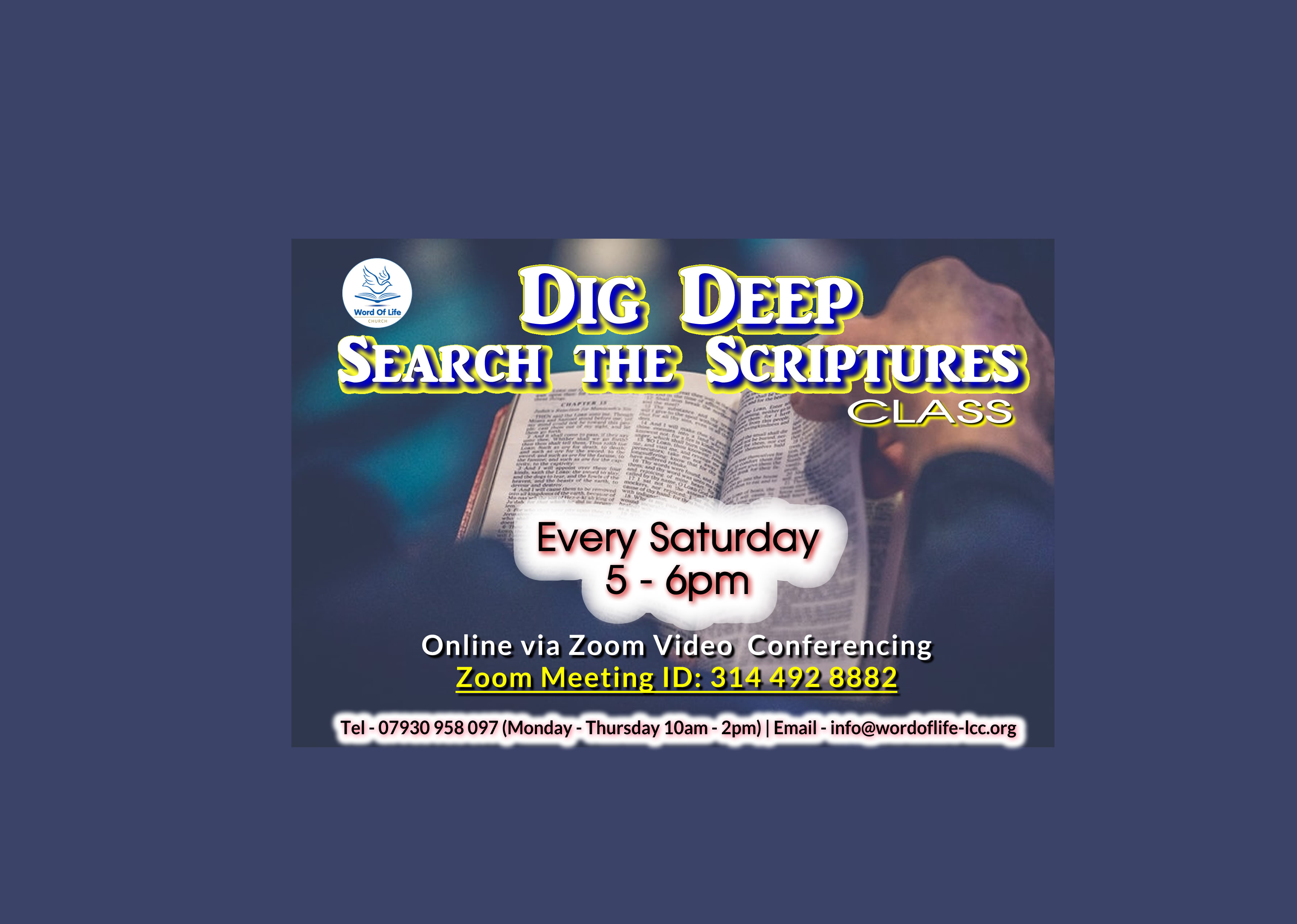 Dig Deep Search The Scriptures  2021   Web