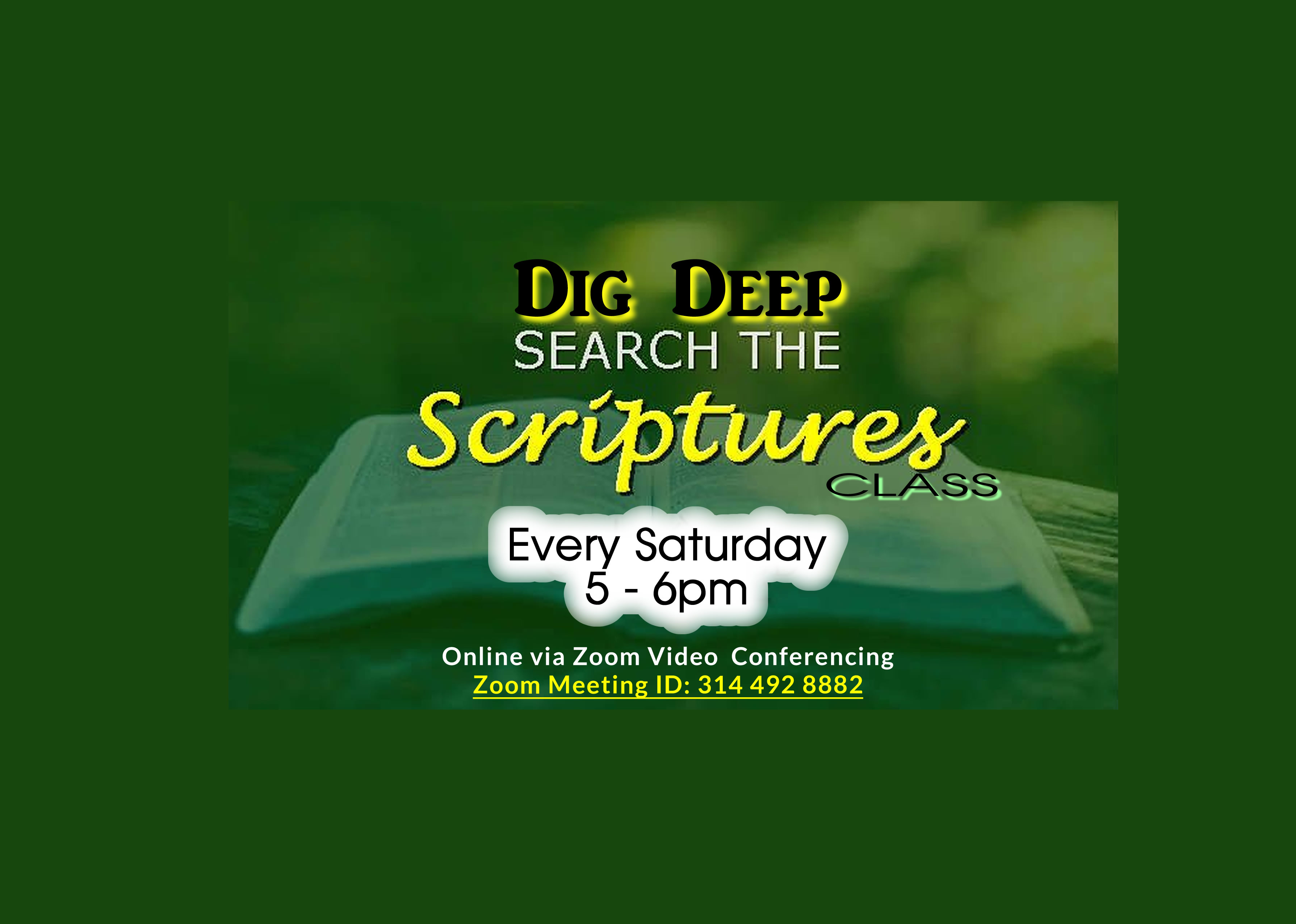 Dig Deep Search The Scriptures  July   Web