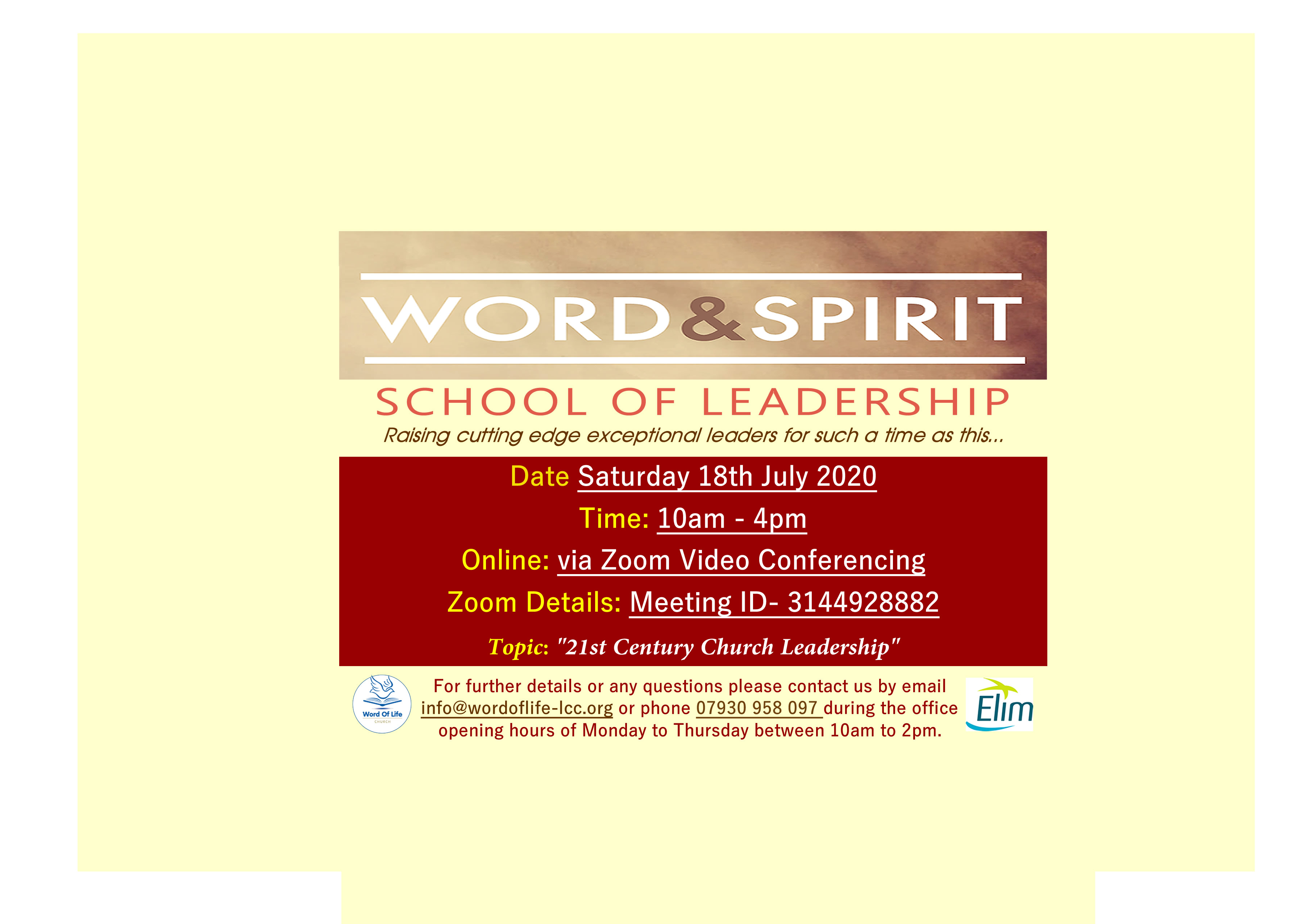 Word  Spirit School Of Leadership July   Web